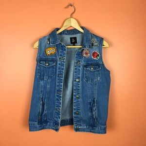 💛 Art Class | Jean Vest with Patches XL